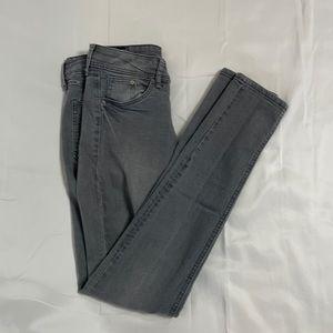 H&M &Denim Super Skinny Super Low Gray Jeans Sz 24